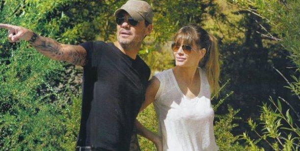 Marcelo Tinelli y Guillermina Valdes en almuerzo familiar este domingo de sol
