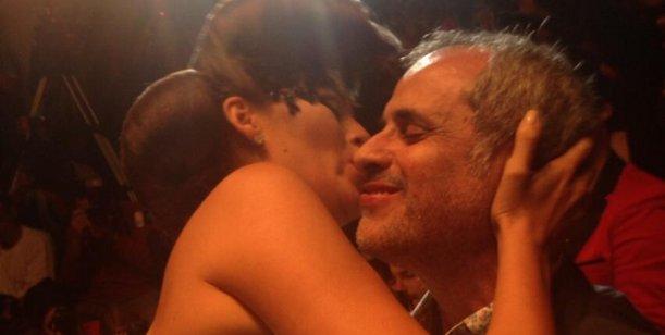 Jorge Rial y Loly Antoniale, románticos en un desfile de modas