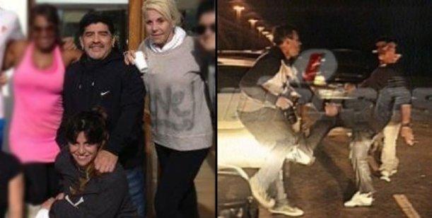 Luego del escándalo con la prensa, Diego Maradona se divierte con su familia