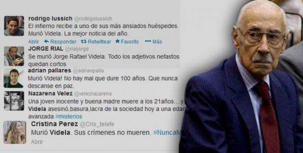 Murió el dictador Jorge Rafael Videla: los tweets de los famosos