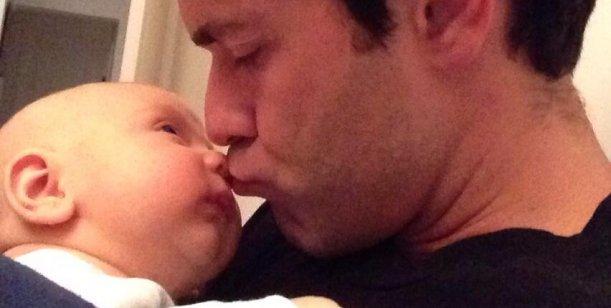 La imagen más tierna de Mariano Martínez con su hijo Milo
