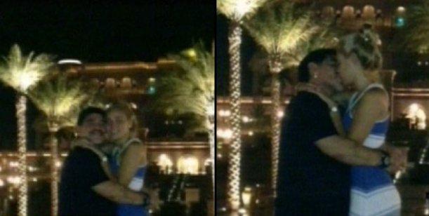 El álbum íntimo del romántico viaje de Maradona y su novia en Dubai