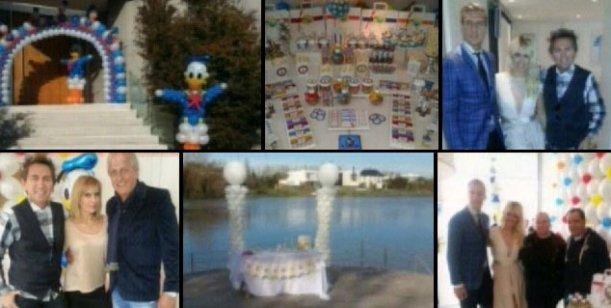 El lujoso festejo del bautismo de Benedicto, el hijo de Wanda y Maxi López