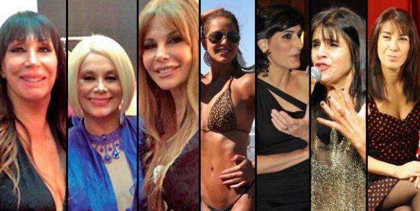 Carmen y Moria entre Patricia Sosa, Laura Oliva, Fabiana Cantilo, Milone y Alfano
