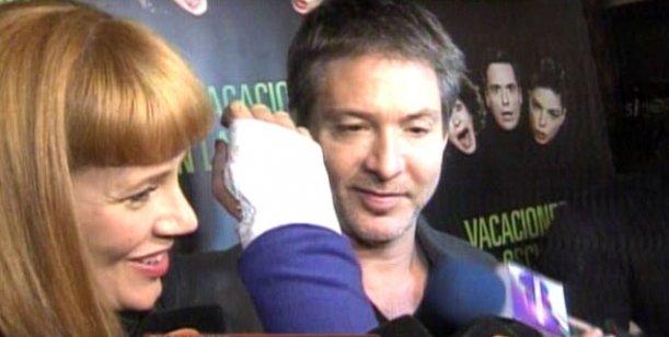 Adrián Suar y Griselda Siciliani luego del accidente de la actriz en Farsantes