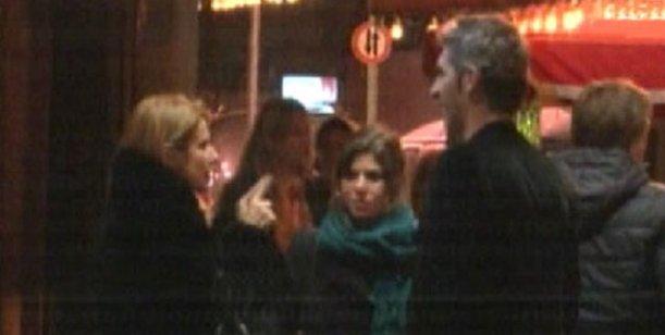 La prueba del delito: imágenes del encuentro de Flavia Palmiero y Simeone