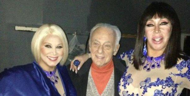 Gerardo Sofovich y su novia fueron a ver a Carmen Barbieri y a Moria Casán