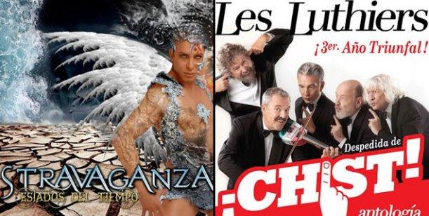 Éxito teatral: Stravaganza y Les Luthiers lideran la taquilla porteña