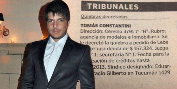 Tomás Costantini, en quiebra