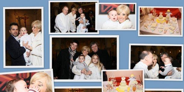 Marisa Brel bautizó a su hijo Timoteo, y Ángel de Brito fue uno de los padrinos