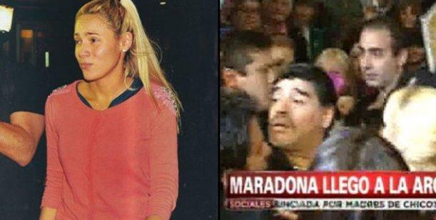 Incidentes en Ezeiza con la llegada de Rocío, la novia de Diego Maradona