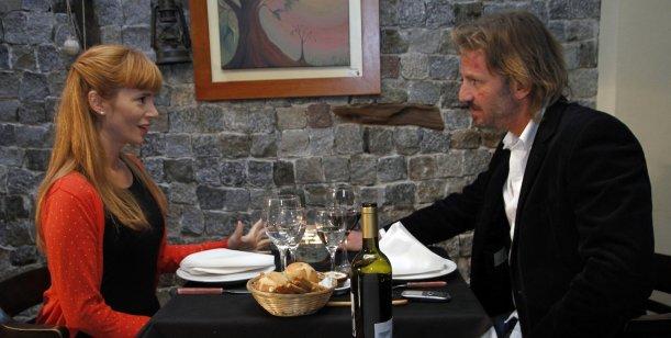 El primer acercamiento de Griselda Siciliani y Facundo Arana en Farsantes