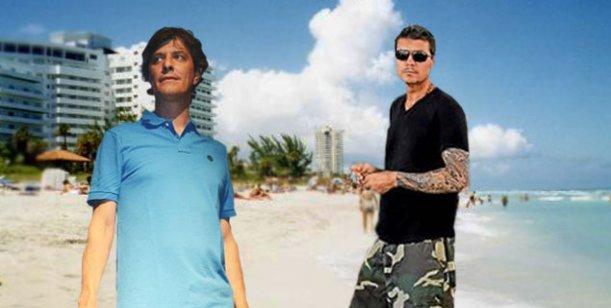Mario Pergolini descansa en familia en las mismas playas que Marcelo Tinelli
