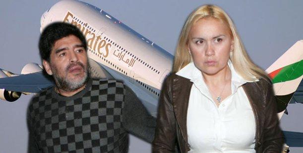 Maradona se reconcilió con Verónica Ojeda y viajan junto a su hijo a Dubai