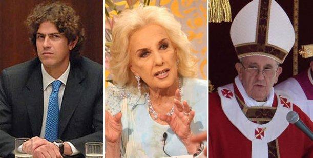 Almuerzos polémicos: Mirtha quiere al Papa en su mesa y bajó a Martín Lousteau
