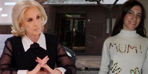 Obsesionada con el caso Angeles, Mirtha Legrand se hizo llevar por su chofer al edificio del crimen