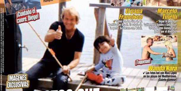 Las fotos que enfurecieron a Maradona: el novio de Villafañe con Benjamín