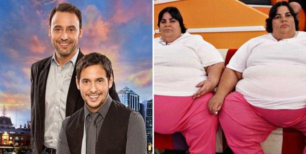 Las mellizas de Cuestión de peso: Las nuevas figuras de la tarde de la tv