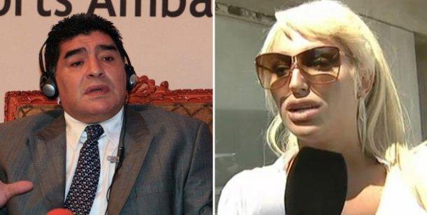 Victoria Xipolitakis, muy cerca de Maradona