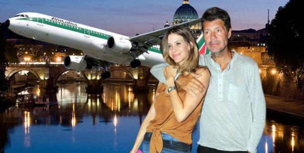 Tinelli  y Valdes, luna de miel en Europa con fútbol y visita al Papa francisco