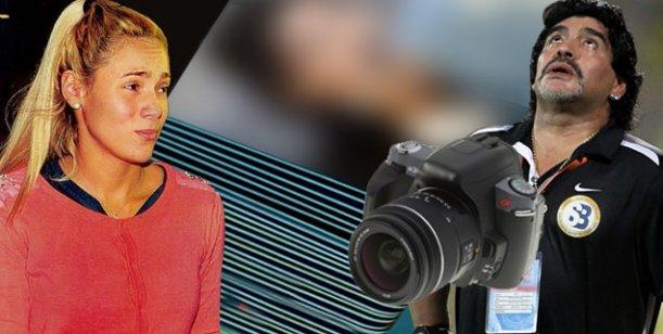 Maradona estaría siendo amenazado por Rocío Oliva con fotos de su intimidad