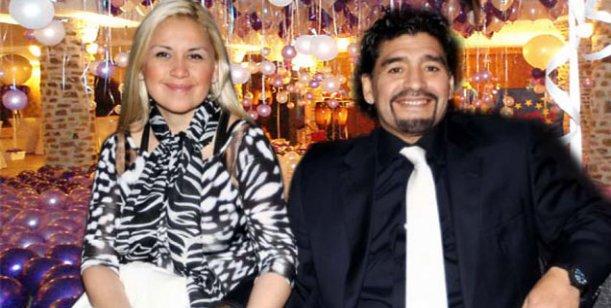 La intimidad del encuentro de Ojeda y Maradona en el festejo de su hijo