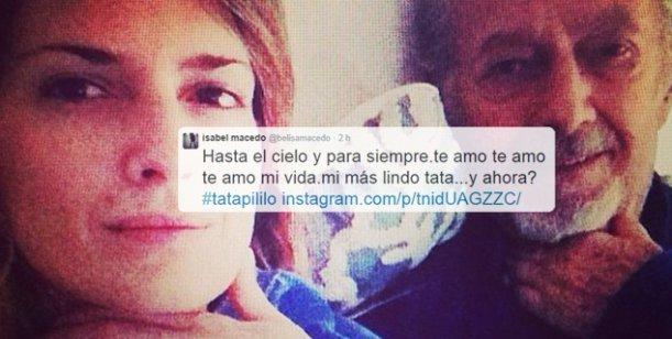 La emotiva despedida de Isabel Macedo a su papá: Te amo hasta el cielo