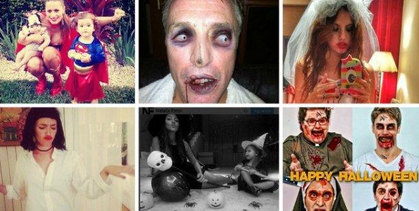 Así festejaron Halloween los famosos