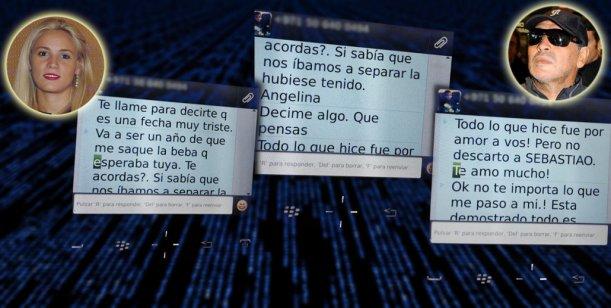Los tremendos SMS de Rocío a Maradona: ¿Abortó un hijo suyo hace un año?