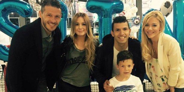 Anderson y Demichelis festejaron el cumple de su hijo con el Kun, Karina, Rojo y Di María