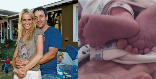 Nació Rocco, el segundo hijo de Prandi: Bienvenido al mundo, amor de mi vida