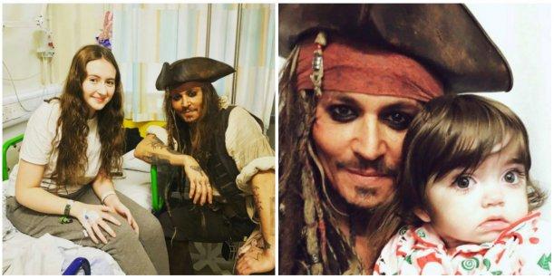 El gesto de amor de Johnny Depp con los nenes enfermos de un hospital en Londres