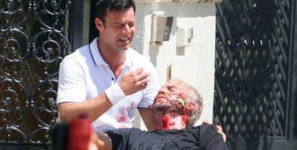 Ricky Martin, llorando por la muerte de Gianni Versace